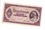 Bancnota Ungaria 100 pengo 3 aprilie 1945, circulata, stare relativ buna