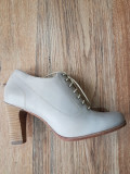 Pantofi TIMBERLAND handmade originali 40- REDUCERE 30% la doua perechi cumparate, Gri, Cu toc