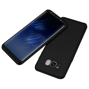 Husa Samsung Galaxy S8 - Negru - (fata + spate + folie de protectie din silicon)