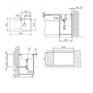 Chiuveta de bucatarie Pyramis Soft Compozit Level DUROTHEK 1B1D ST