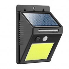 Lampa cu incarcare solara, 48 x LED, 1200 mAh, 600 lm, senzor miscare