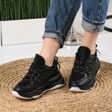 Pantofi Sport De Dama Zaren Negri 36 EU Negru
