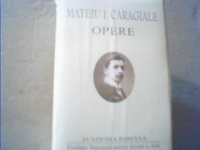 """Mateiu I. Caragiale - OPERE { in colectia """" Opere fundamentale """"}/in tipla, 2001"""