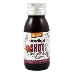 Bautura din Ghimbir si Fructe de Padure cu Vitamina C din Acerola Bio 60 mililitri Voelkel Cod: VK2198400149