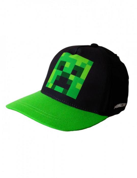 Sapca Minecraft Creeper, Ajustabila , ORIGINAL, Mojang, 8 ani +, Brtara CADOU !!
