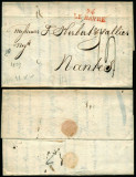 France 1823 Rare Stampless Cover + Content 74 Le Havre Nantes D.1069