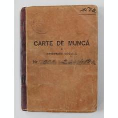 CARTE DE MUNCA SI ASIGUARE SOCIALA , ELIBERATA IN 1948