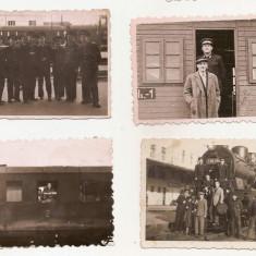 lot 24 fotografii tematica CFR trenuri cai ferate Romania gara