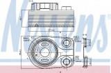 Radiator ulei, ulei motor DACIA DUSTER Caroserie (2011 - 2016) NISSENS 90705