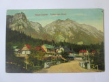 Carte postala Poiana Țapului vedere spre munti circulata1915 stampila Gara Azuga
