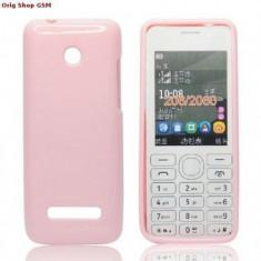 Husa silicon Jelly Nokia 206 Roz