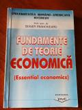 Fundamente de teorie economica, prof. univ. dr. Eugen Prahoveanu