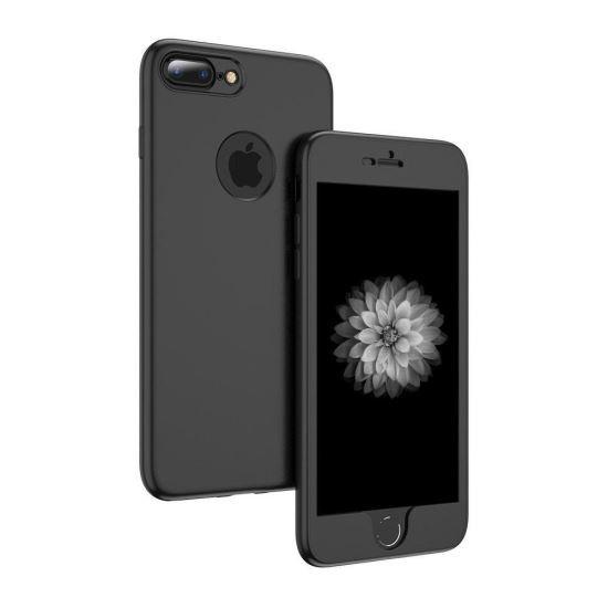 Husa Floveme 2in1 Full Cover Neagra Pentru Iphone 66S