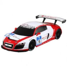 Masinuta cu Telecomanda Audi R8 LMS RC Racing, Scara 1:18 Alb Rosu