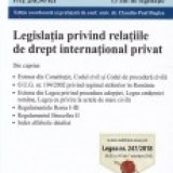 Legislatia privind relatiile de drept international privat