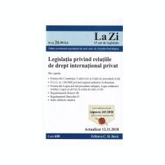 Legislatia privind relatiile de drept international privat