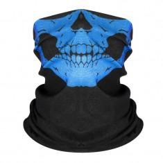 Masca protectie fata craniu, culoare albastra, paintball, ski, airsoft