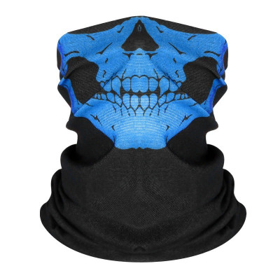 Masca protectie fata craniu, culoare albastra, paintball, ski, airsoft foto