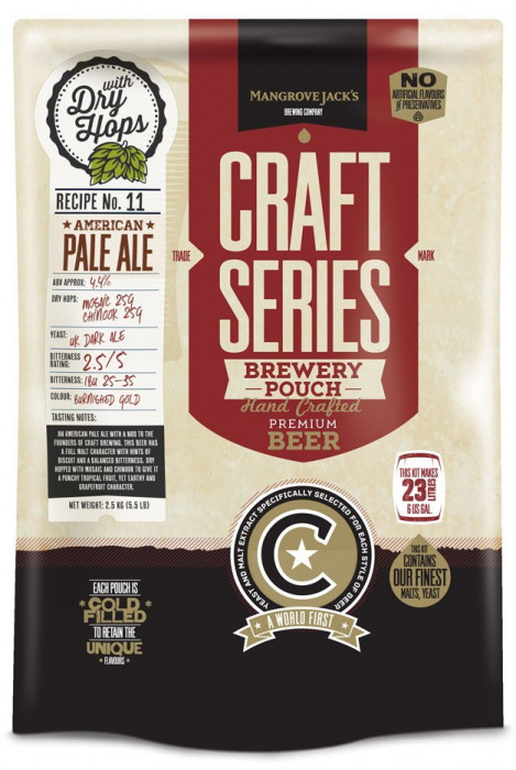 Mangrove Jack's Craft Series American Pale Ale - kit bere de casa 23 litri