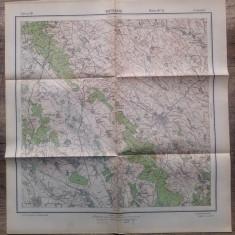 Botosani// harta Serviciul Geografic al Armatei 1939
