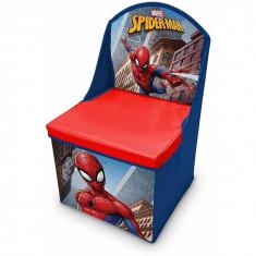 Scaun pliabil cu spatar si spatiu depozitare Spiderman SunCity LEY3000LQ B3406521