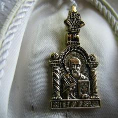 "LICHIDEZ COLECTIE- PANDANTIV RUSIA --TEMA  RELIGIOASA "" SF NICOLAE"""