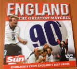 ENGLAND THE GREATEST MATCHES 90 's - FOTBAL DVD ORIGINAL