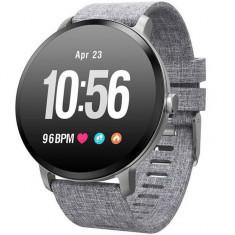 Bratara Fitness iUni V11, Display 1.3 inch, Full Color OLED, Pedometru, Monitorizare Puls, Notificari, Gri