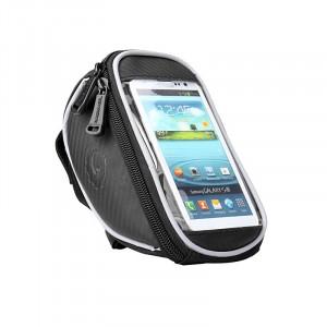 Buzunar bicicleta cu husa transparenta pentru telefon mobil
