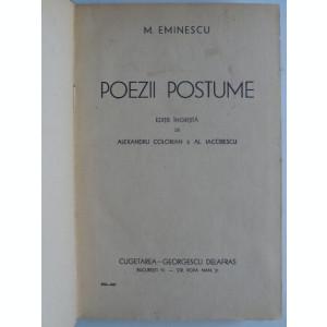 Poezii Postume, Mihai Eminescu
