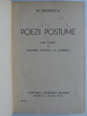 Poezii Postume, Mihai Eminescu foto