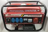 Generator Curent - PowerTech PT6500WE - 12/220/380V - Pornire la CHEIE, Generatoare uz general