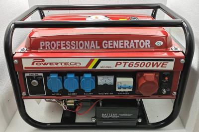 Generator Curent - PowerTech PT6500WE - 12/220/380V - Pornire la CHEIE foto