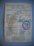 HOPCT ROMANIA CARTELA DE IMBRACAMINTE [1]-MUNCITORI -FUNCTIONARI BUCURESTI 1949