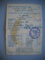 HOPCT ROMANIA CARTELA DE IMBRACAMINTE [1]-MUNCITORI -FUNCTIONARI BUCURESTI 1949 foto