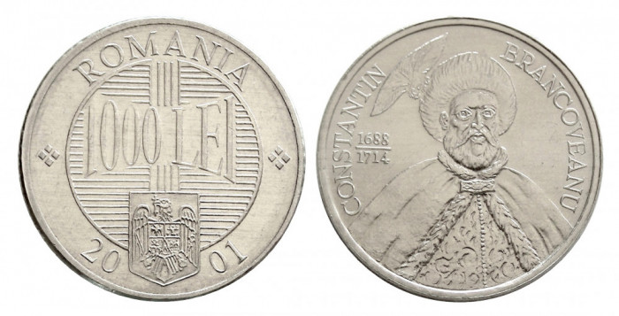 1000 LEI 2001 aUNC APROAPE NECIRCULATA CU LUCIU DE BATERE DAR CU ATINGERI