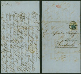 Austria - Postal History Rare Cover + Content Vienna to Innsbruck DB.434