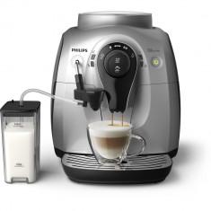 Espressor automat Philips, HD8652/59, 1l, 1400W, Carafa cu sistem spumare automata a laptelui, Rasnite 100% ceramice, 15 bar, Argintiu