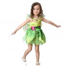 Costum carnaval Zana Clopotica Tinkerbell pentru copii S 110 120 CM 4 6 ani