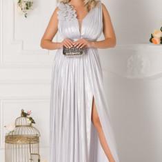 Rochie Ladonna Raysa lunga de seara argintiu
