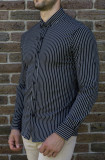 Camasa slim dungi albe  - camasa tunica camasa barbat camasa slim #198