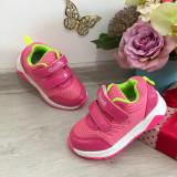 Cumpara ieftin Adidasi roz galbeni cu scai pantofi sport pt fetite marimea 26, Fete