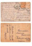 SV * CARTI POSTALE / FELICITARI CIRCULATE  1923 * STAMPILA COTMANI si TEREBLECEA