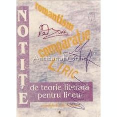 Notite De Teorie Literara Pentru Liceu - Ana Blaga