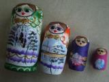 Set Papusi MATRIOSKA Rusia (Foarte mari) - 4 Bucati