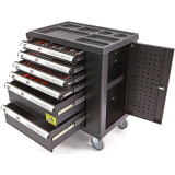 Dulap cu 6 sertare echipat cu scule 154 piese
