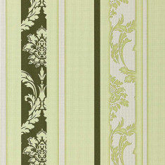 Tapet verde model baroc cu finisaj mat 053-25