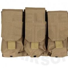 Portincarcator Triplu M4/AK Coyote [ACM]