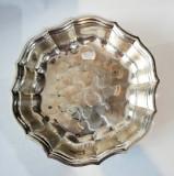 Tava platou din alama placata cu argint