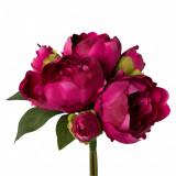 Cumpara ieftin Buchet flori artificiale Peonia Cherry, 70 cm